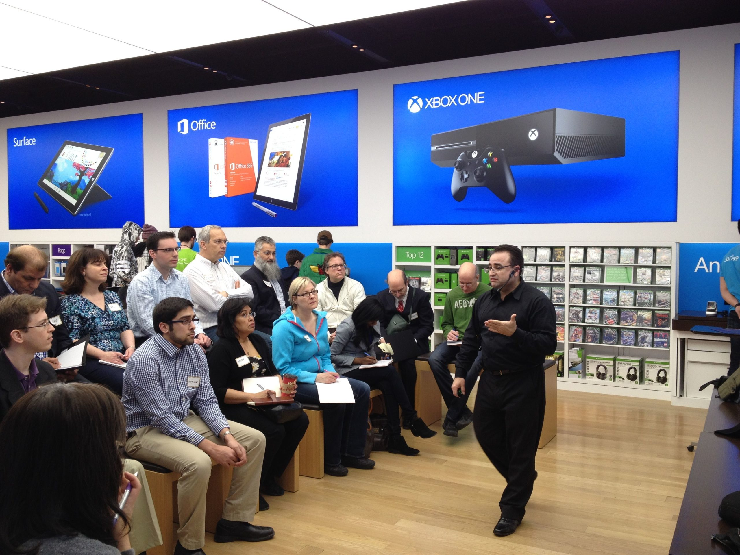 Paul Hill Presenting to microsoft